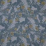 Fabulous Fabrics Baumwollstoff Orchideen – gelb/blau —