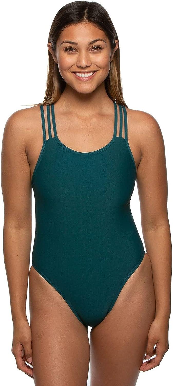 JOLYN Women's Fixed-Back Ryker One-Piece Swimsuit
