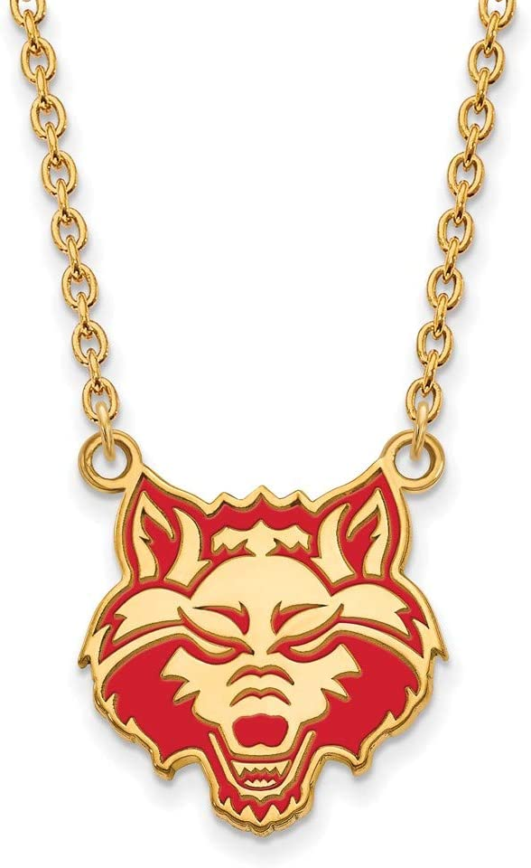 Arkansas State Enamel Large 3 4 Pendant Gold Courier shipping free Inch Necklace w Over item handling