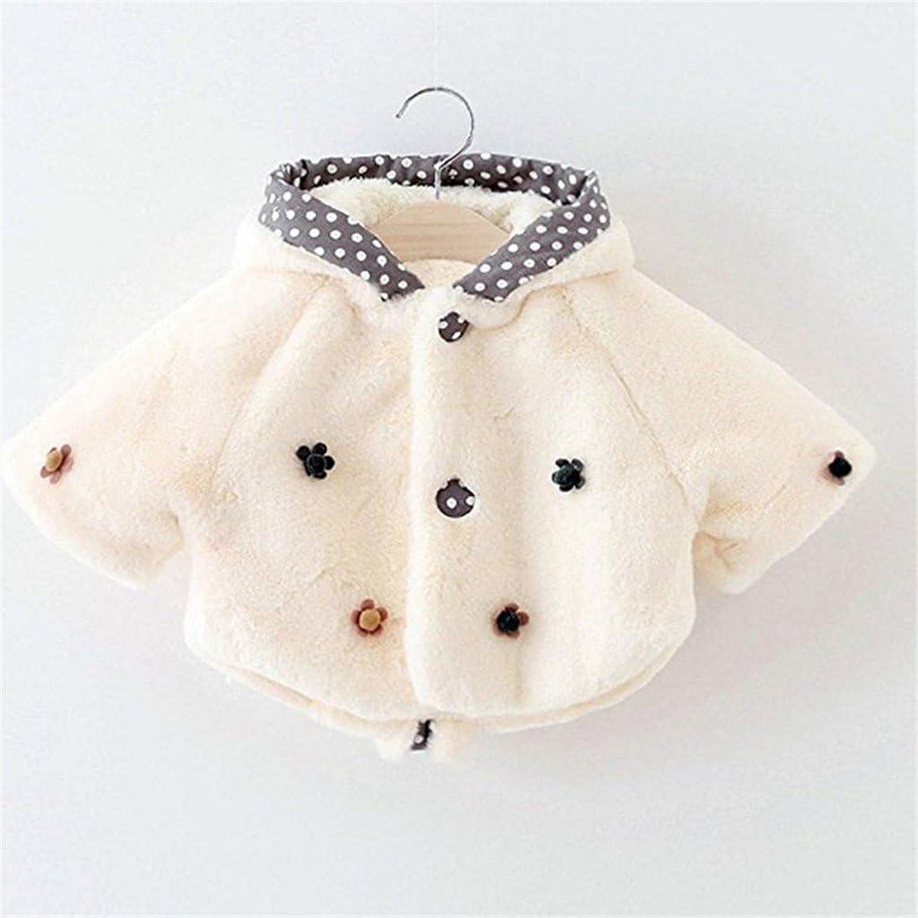 JELEUON Kids Baby Toddler Girls Princess Winter Warm Fur Coat Cloak Jacke Outerwear