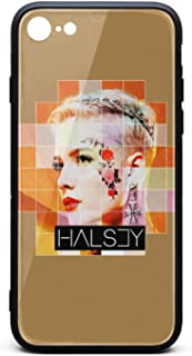 I-Phone7/8 Case Ultra Slim Fit Case Shock-Absorption Bumper Cover Halsey-Without-me-Lyrics-Square- for i-Phone 7/8