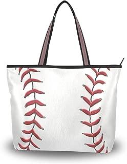 monogrammed baseball tote