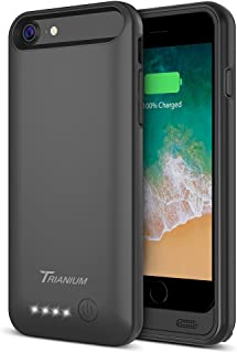 "iPhone 8/7 Battery Case, Trianium Atomic Pro 3200mAh Extended iPhone 7 8 Battery Portable Charger iPhone 7, iPhone 8 (4.7"") [Black] Power Charging Case Pack Juice Bank [Apple Certified Part]"