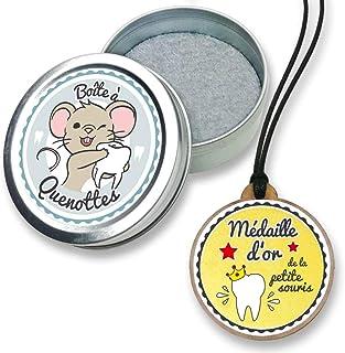 FANS & Friends Boîte à dents de lait avec médaille pour garçons et filles, avec e-book gratuit, Coffret de rangement pour ...