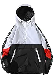 b478cb46c7c Hzcx Fashion Mens Pullover Hooded Waterproof Lightweight Windbreaker Jackets