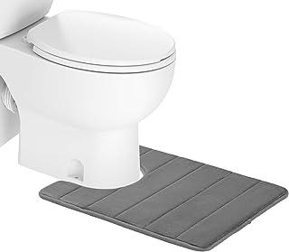"Colorxy Memory Foam Bath Mat - Soft & Absorbent Bathroom Toilet Bath Rugs U-Shaped Non Slip Commode Contour Rug, 20"" X 24""..."