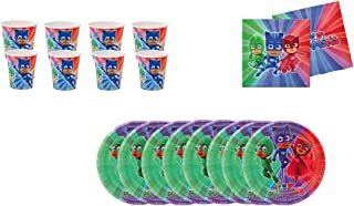 Pack Desechables Fiestas y cumplea/ños Basic 6 Platos 18 cm y 6 Platos 23 cm PJ Masks 1101 Compuesto por 6 Vasos