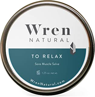 Wren Natural Skin Salve For Sore Muscles To Relax & Recover With Organic Ingredients, 1.25 oz tin