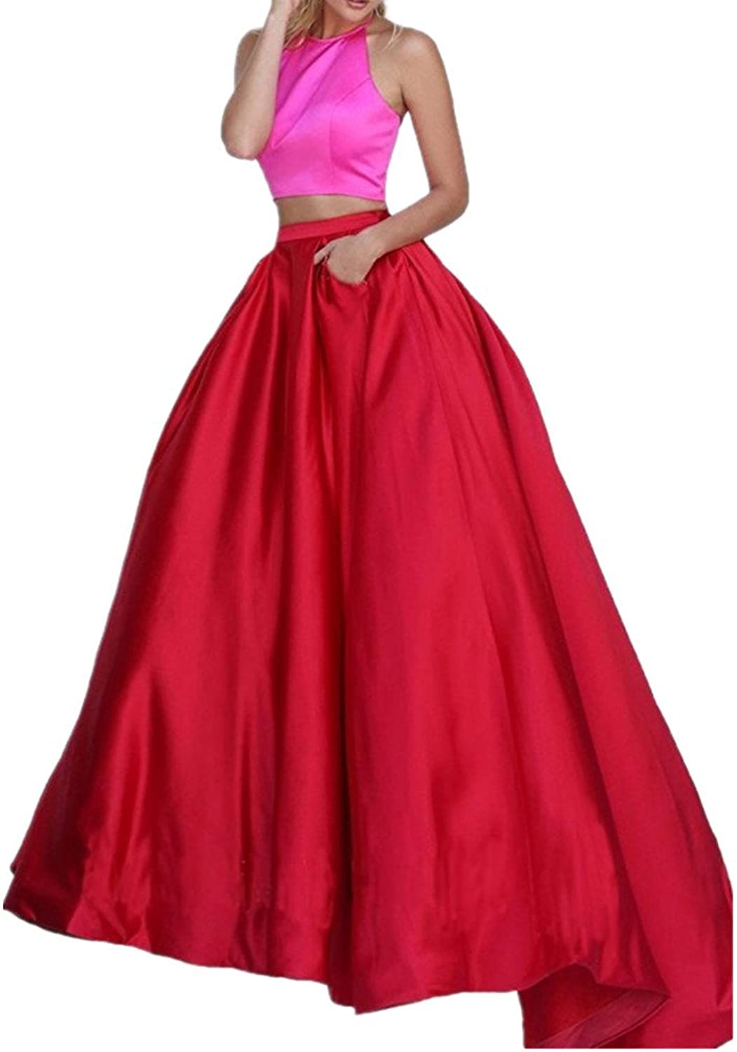 Beautydress Womens's Simple Two Pieces Formal Occasion Long Evening Dress BP006
