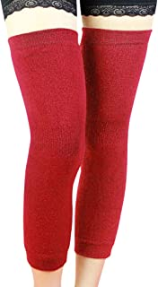 A Pair Elastic Lengthen Cashmere Knitted Knee Sleeve Braces Non-slip Thermal Over Knee Leg Sleeves Support Protector Thigh Calf Warmer Socks Pads Legging Stockings for Women Men, Pain Relief/Arthritis
