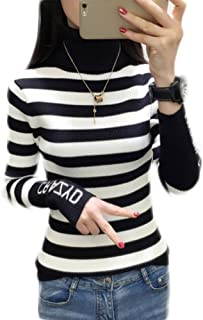 【ACE FACTORY】レディース トップス ニット ハイネック タートルネック ロングスリーブ Tシャツ おしゃれ 可愛い スリム インナー エコバッグ付き
