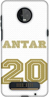 AMZER Slim Fit Handcrafted Designer Printed Snap on Hard Shell Case Back Cover Skin for Motorola Moto Z3 Play - Antar Jers...