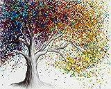 Pintura por número colorido árbol grande pintura al óleo DIY set 40 * 50 CM lienzo sin marco decoración del hogar acrílico pintura de arte moderno