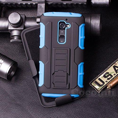 Cocomii Robot Belt Clip Holster LG G2 Mini Case, Slim Thin Matte Kickstand Swivel Belt Clip Holster Reinforced Drop Protection Fashion Phone Case Bumper Cover for LG G2 Mini (Blue)