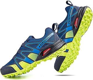 Zapatillas Trail Running Hombre Mujer Impermeables Zapatos Trekking Ligero Botas Senderismo Bajos Multideporte Negro Azul ...