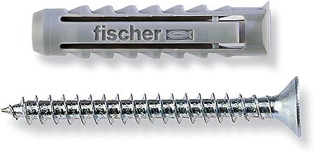 Fischer 100 stuks pluggen SX met schroef 5 x 25 mm voor volle en baksteen, 570020