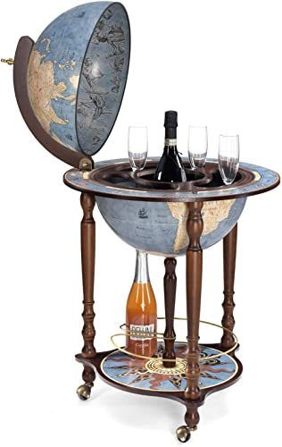 Da Vinci Blue Dust Made in Italy Bar Globe with Certificate of Authenticity (Blue Dust)