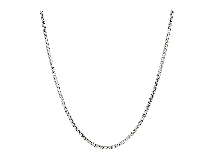 John Hardy  2.6mm Box Chain Necklace Size 26 (Silver) Necklace
