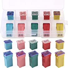 Glarks 10Pcs Automotive Low and Tall/Standard Profile Box Shaped Jcase Fuse 20A 30A 40A 50A 60A Fuse Assortment Kit for Ford, Chevy/GM, Nissan, and Toyota Pickup Trucks, Cars and SUVs