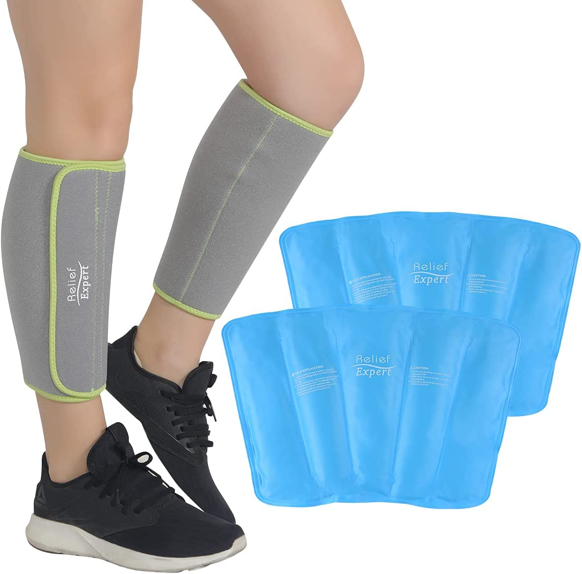 Relief Max 55% OFF Expert Shin Ice Packs for Cold Pain Leg Splints Popular product C