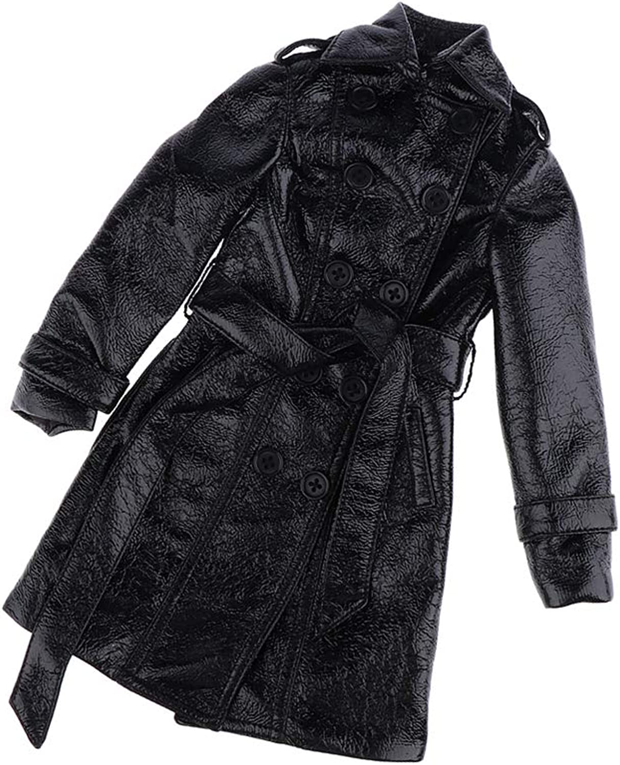 Fityle Handmade Black Trench Coat Winter Clothes Accessory for 1 3 BJD Doll Casual Outfit