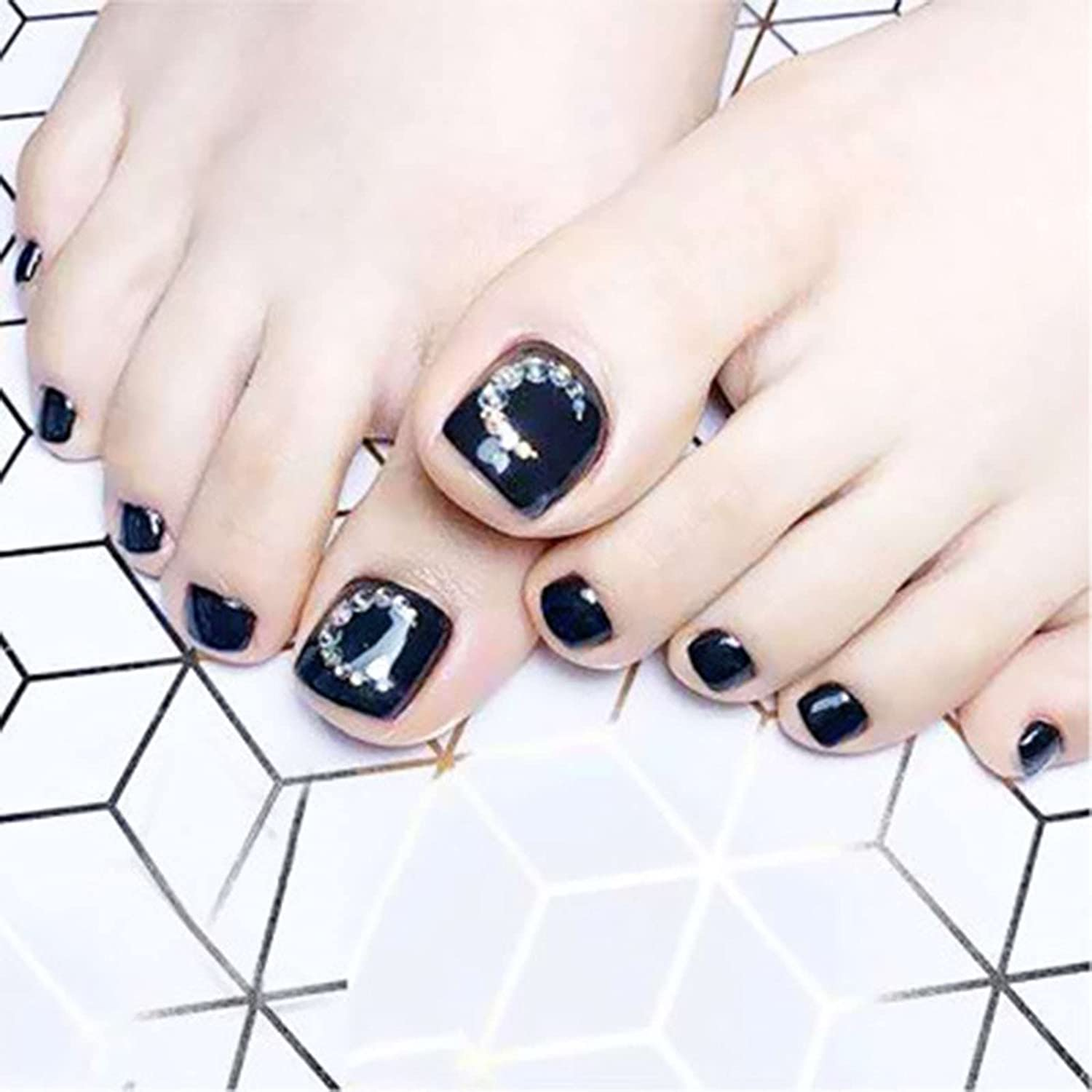 24 Pieces of Wearable Full Paste Nail Wom for Manicure Max 80% OFF Manufacturer OFFicial shop Tips
