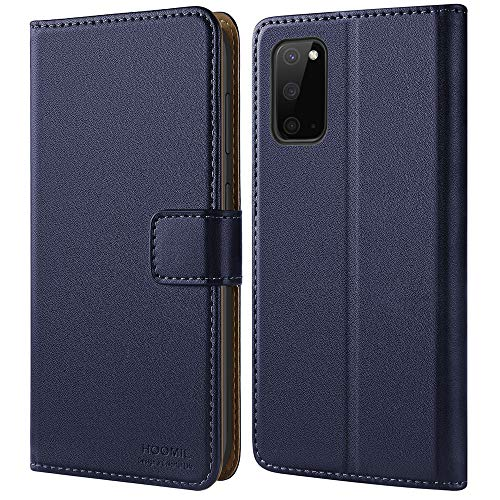 HOOMIL Handyhülle für Samsung Galaxy S20 Hülle, Premium PU Leder Flip Hülle Schutzhülle für Samsung Galaxy S20 Tasche (Blau)