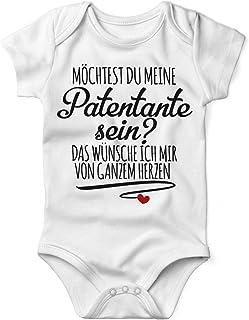 Mikalino Babybody mit Spruch für Jungen Mädchen Unisex kurzarm Möchtest du meine Patentante sein | handbedruckt in Deutschland | Handmade with love