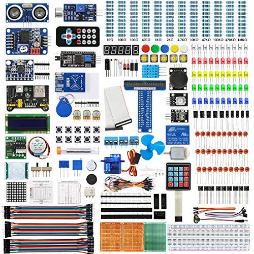 WayinTop Ultimate Starter Kit für Raspberry Pi 4 B 3 B+, Ausführliche E-Book Anleitung, Python C Java, 300 Elemente, Elektronische Kit für Raspberry Pi zum Lernen Elektronik und Programmierung