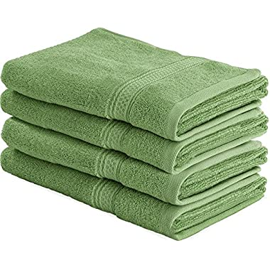 Utopia Towels Cotton Large Hand Towels (Sage Green, 4-Pack,16 x 28 inches) - Multipurpose Use for Bath, Hand, Face, Gym and Spa- By
