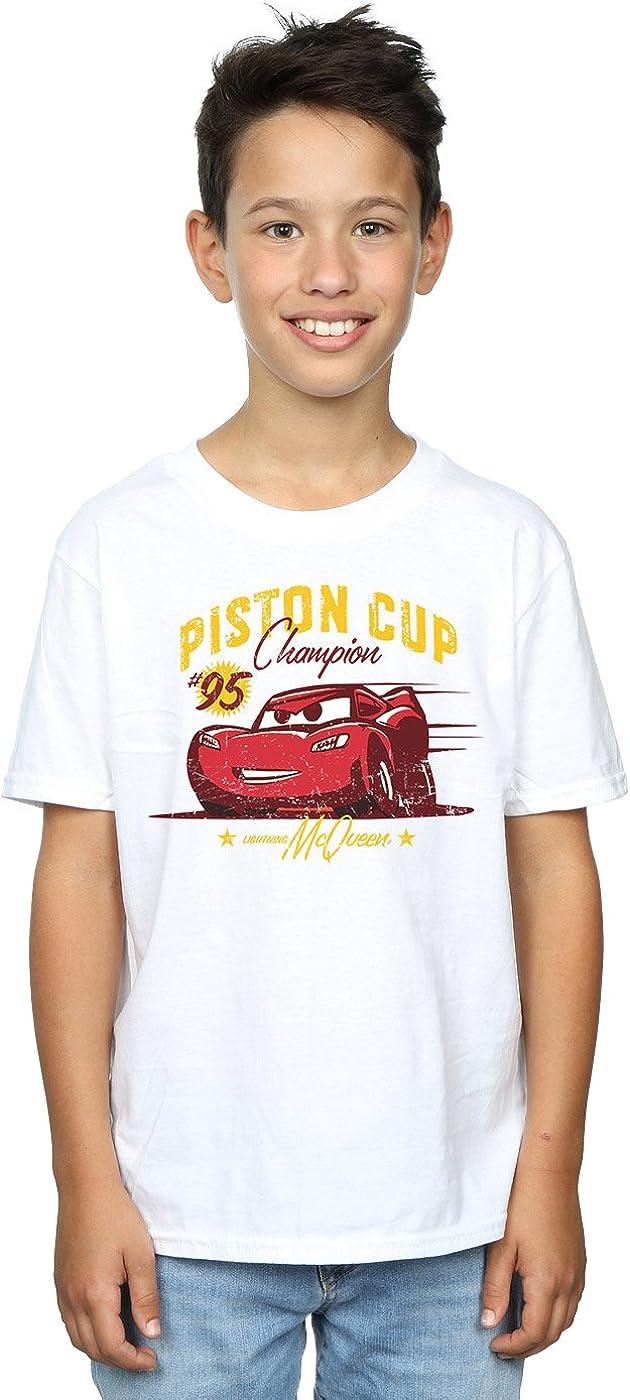 Disney Boys Cars Piston Cup Champion T-Shirt 7-8 Years White