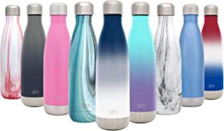 Simple Modern 17oz Wave Water Bottle - Stainless Steel Double Wall Vacuum Insulated Reusable Leakproof Ombre: Nautical
