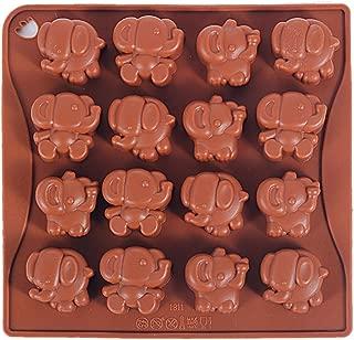 Yunko 16 Cavity Elephant Silicone Chocolate Mold Ice Cube Tray Jello Fudge Mold Candy Gum Mould