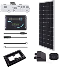 Renogy 100 Watts 12 Volts Monocrystalline Solar RV Kit Off-Grid Kit with 30A PWM LCD Charge Controller / Mounting Brackets / MC4 Connectors/ Solar Cables /Cable Entry housing