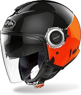 Airoh Herren Hef32 Helmet, Black/ORANGE Gloss, XL