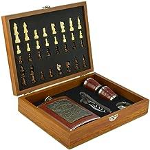 Cantil De Bolso Porta Bebida Whisky Xadrez Copo Luxo