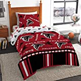 The Northwest Company NFL Atlanta Falcons Rotary Twin Bed in a Bag Set, Black, Twin