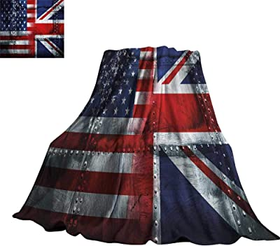 e79d1a96f55b WinfreyDecor Union Jack Living Room Bedroom Warm Blanket Alliance  Togetherness Theme Composition of UK and