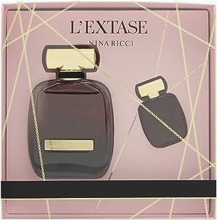 طقم من قطعتين للنساء من نينا ريتشي L'Extase مع او دي بارفان سبراي + او دي بارفان مصغر