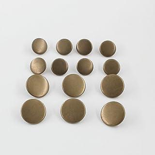 Leekayer 14PCS Metal Flat Button Women Suit Woolen Coat Button Male Jacket Button Shirt Suit Trousers Button Round Shaped ...