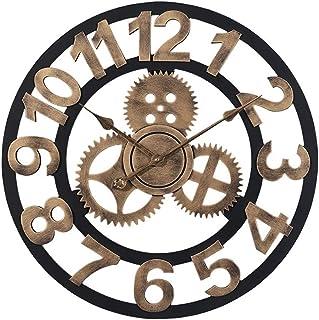 hsj WYQmm Horloge Murale, matériau métallique sélectionné, Horloge muette Ronde et créative Horloge Murale (Color : Gold)