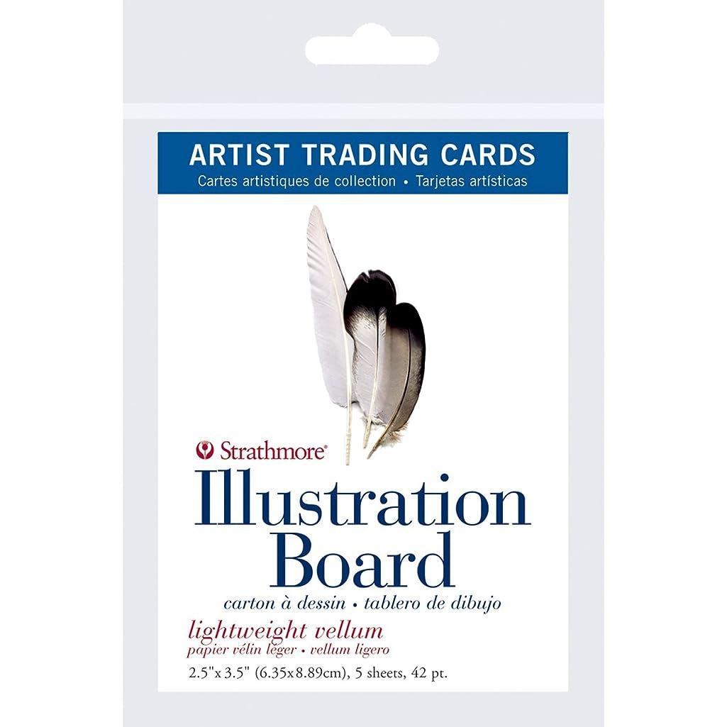 Strathmore ((105-907 500 Series Illustration Board Artist Trading Cards, Lightweight Vellum, 2.5