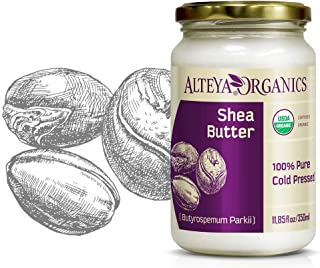 Alteya Organic mantequilla de Karité 350 ml – 100% USDA certificada manteca de karite refinada natural y pura (Butyrosper...