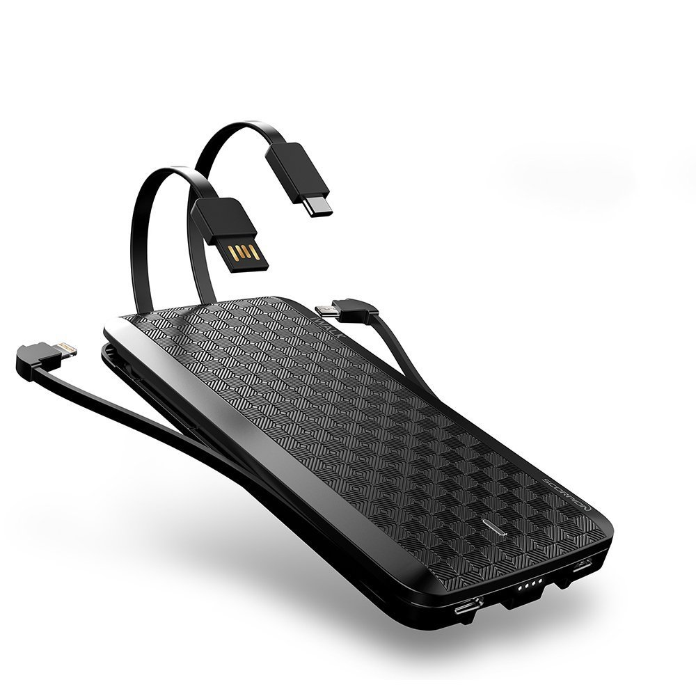 iWALK 8000mah Portátil Power Pack Cargador, Delgado Batería Externa Rápida Carga Móvil Power Bank con Cables