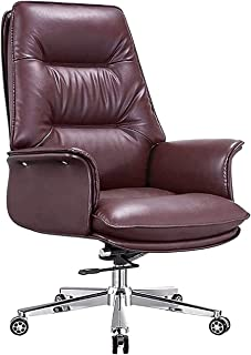 WYKDL قابل للتعديل مريح عكس مكتب/مكتب مكتب كرسي مع مسند ذراع مبطن، تنفيذي بات كرسي المهام التنفيذية الجلدية