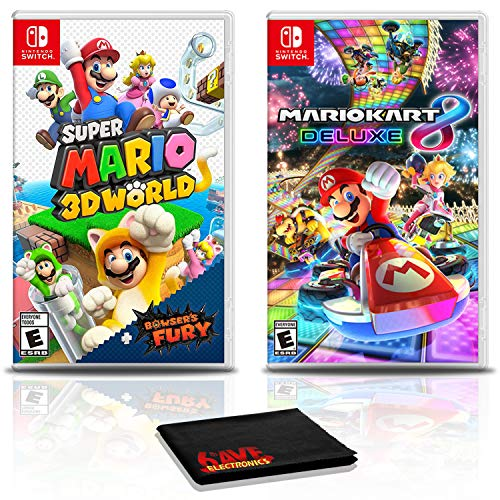 Super Mario 3D World + Bowser's Fury Game Bundle with Mario Kart 8 Deluxe - Nintendo Switch