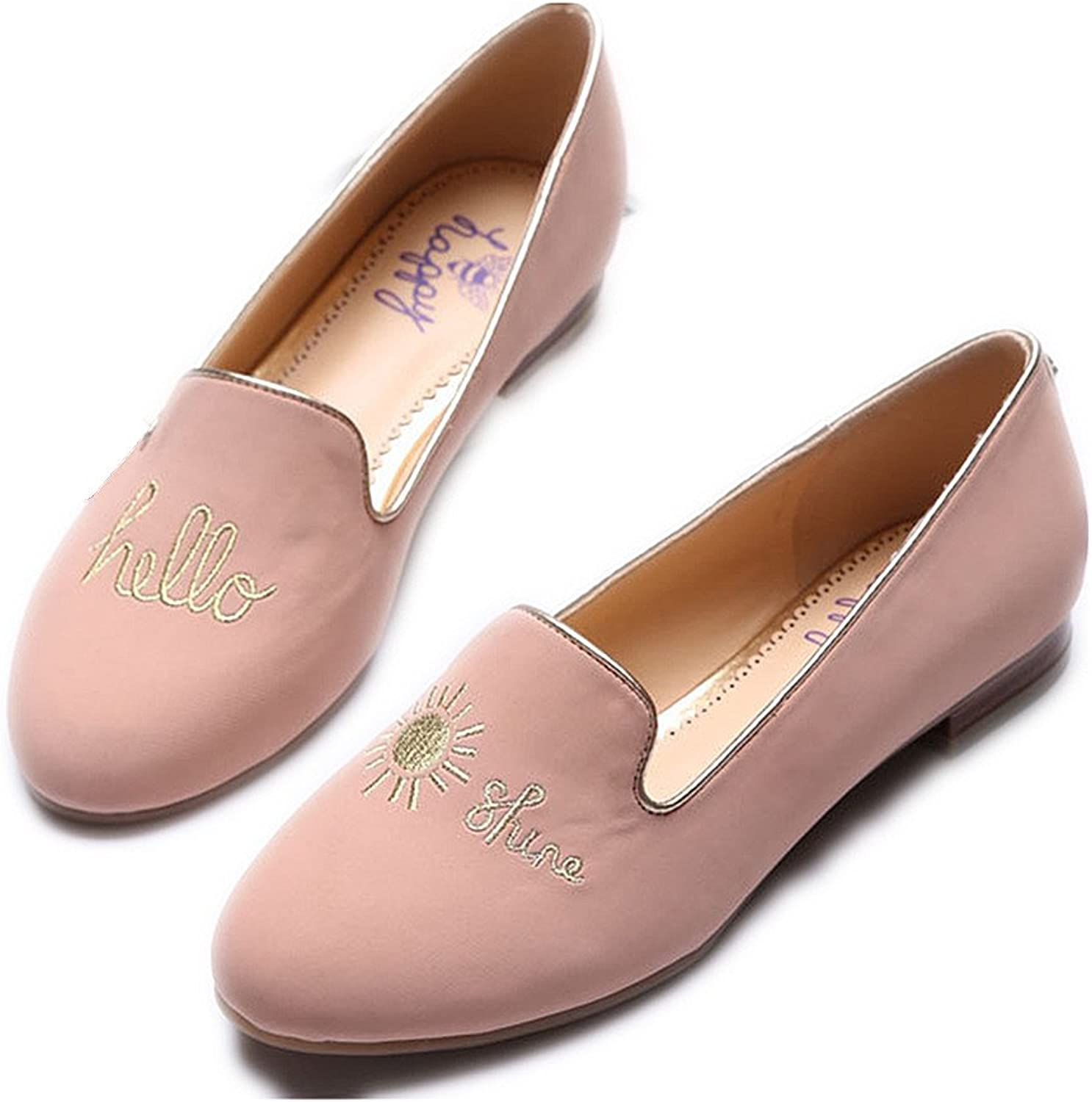 C. Wonder Time Hello Sunshine Espadrilles Loafers Slipper Flat shoes for Womens Pink