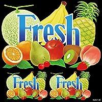 果物 fresh デコレーションシール (W285×H285mm) No.62140(受注生産) [並行輸入品]
