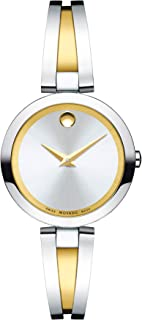 Women's Aleena Two-Tone Watch with a Concave Dot Museum Dial, Gold/Silver (Model 607150)