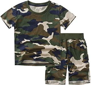 neveraway Little Boys Multicam 2-Piece Casual Top+Short Pants Set Clothes 2pc Suit